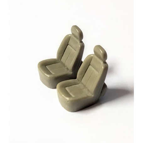 2 resin seats - H. 20 x L 12 mm - Scale 1:43