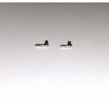 4 Handles for Ford - White Metal - Ech 1:43