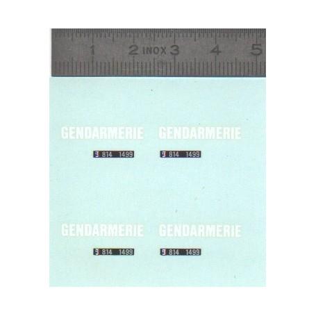 Decal - Gendarmerie + Plates - Ech 1:43