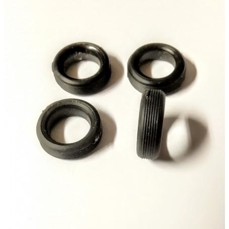 4 flexible resin tires - Ø15mm - ech 1:43