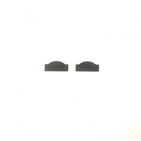2 rally plates - metal - 10.80 x 4.80 mm - ech 1:43