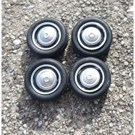 4 Complete Wheels Ø15 mm - 1:43