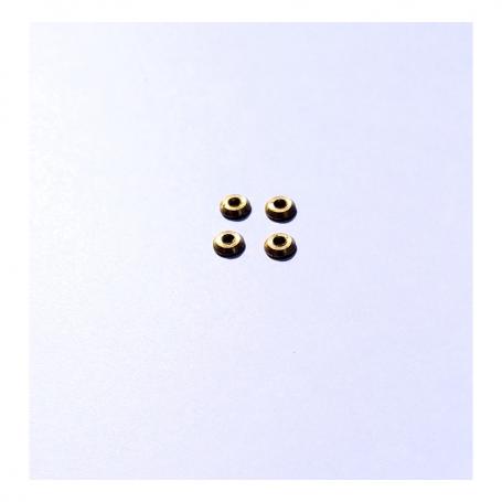 4 Embases Ø 4 mm brass - Ech. 1:43