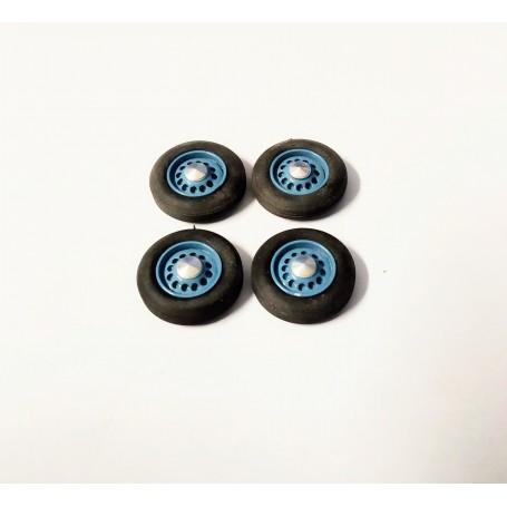4 complete wheels - Hotchkiss - Blue - Ech. 1:43