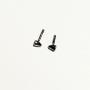 2 headlights / flashing in White Metal - Length 2.10 mm - 1:43