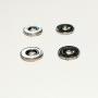 4 Disk White Metal - Chrome - Ø9mm - ECH 1:43