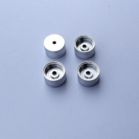 4 Aluminum wheels Ø12 mm x 8 mm - CPC Production