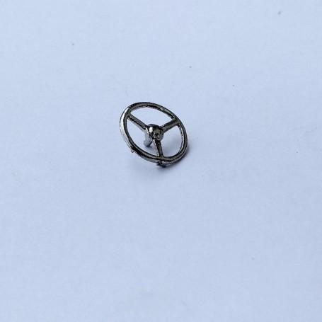 Steering Wheel Ø10.50 - Hotckiss - Ech 1:43 - White Metal