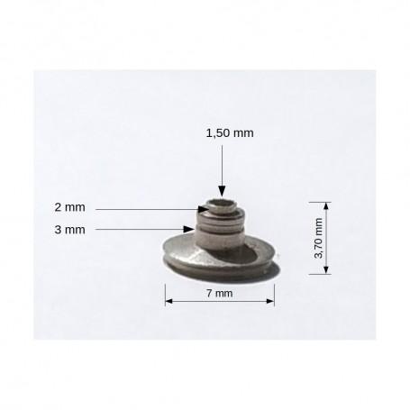 Disc Ø 7 mm - Nickel-plated brass - CPC