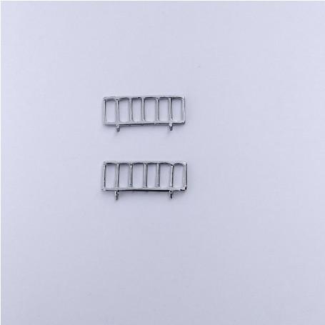 2 Grils Outdoor Safe - Panhard Parisienne - 1:43 - White Metal