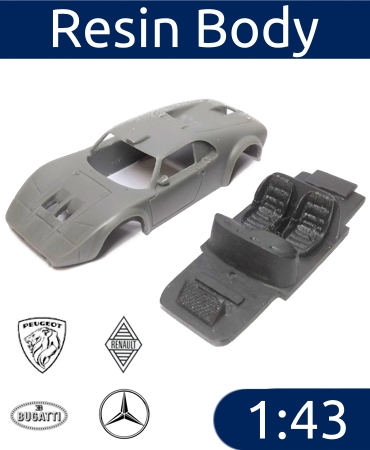 Resin Body Car 1:43